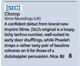 Slime – Chomp EP review (iDJ)
