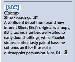 Slime – Chomp EP review (iDJ)